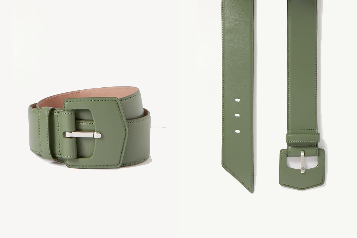 2021 spring summer olive green items cloth bag shoes belt