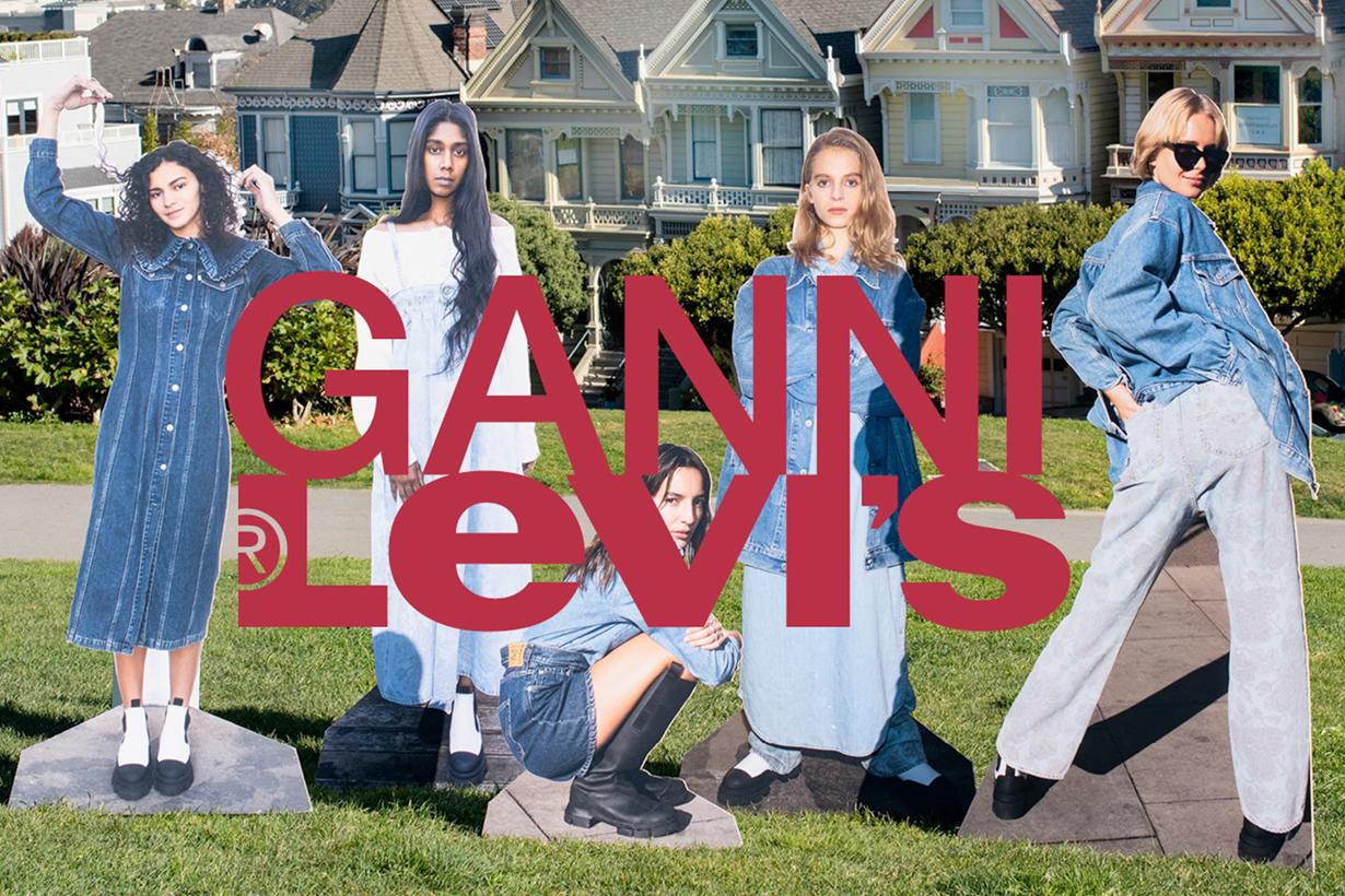 levi's ganni 2021 collabration jeans jacket dress denim where buy