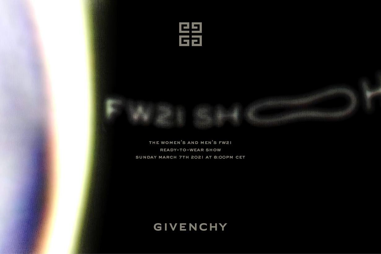 givenchy 2021 fw fashion show livestream