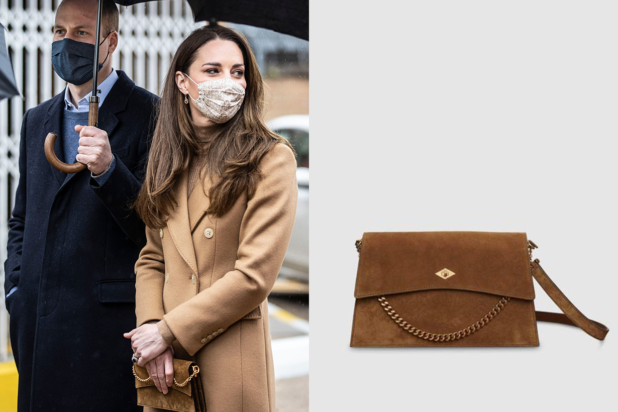 Kate Middleton Duchess of Cambridge Celebrities Handbag Métier London Roma bag Prince William British Royal Family