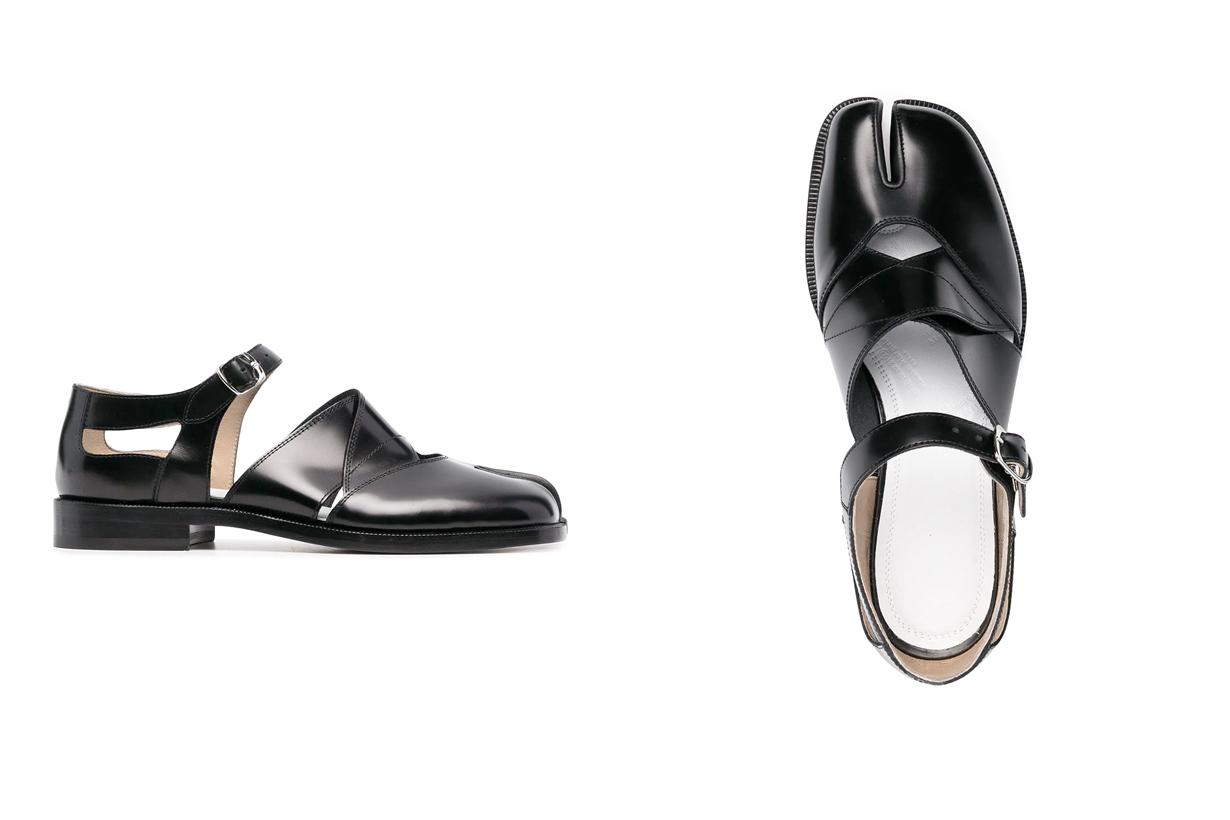 maison margiela tabi sandals leather 2021 mary jane where buy