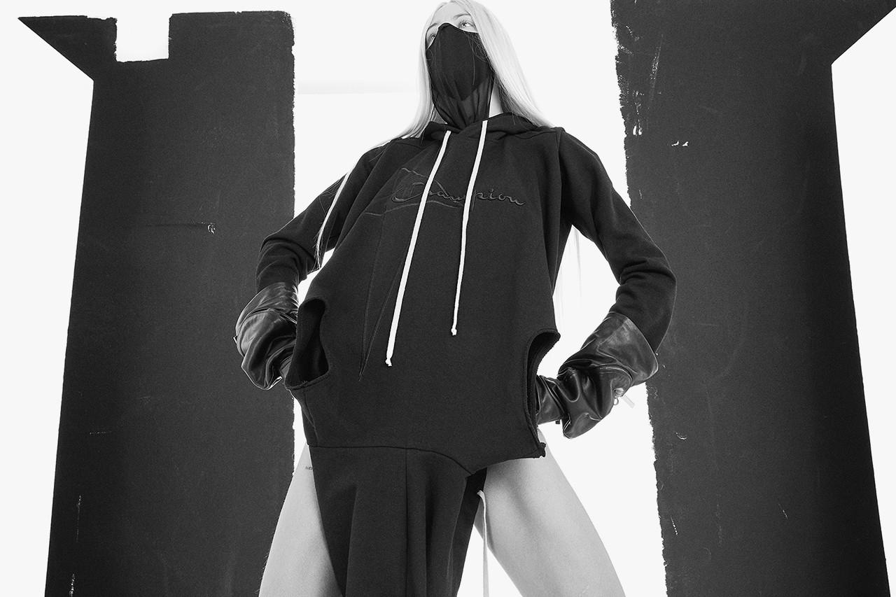 Rick Owens x Champion 2021 ss Collaboration