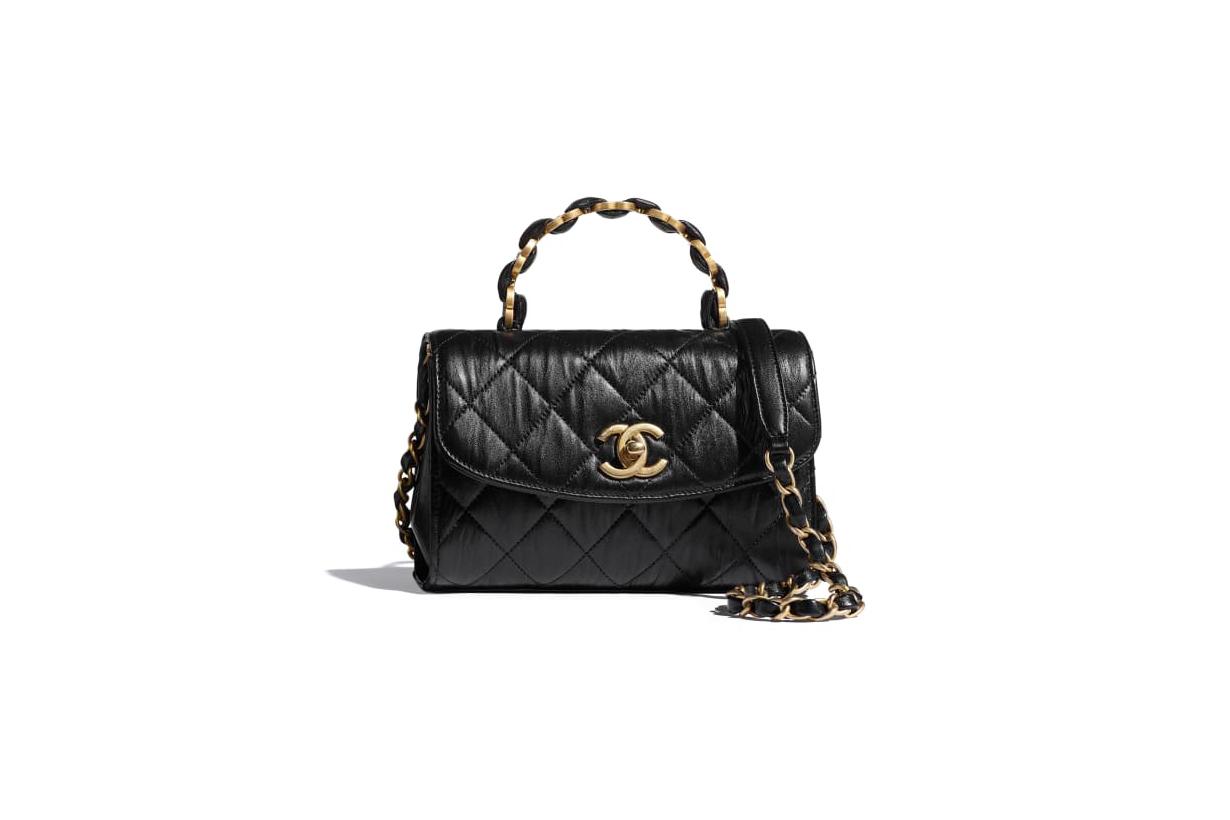 chanel 2021 spring summer mini flap bag with top handle handbags