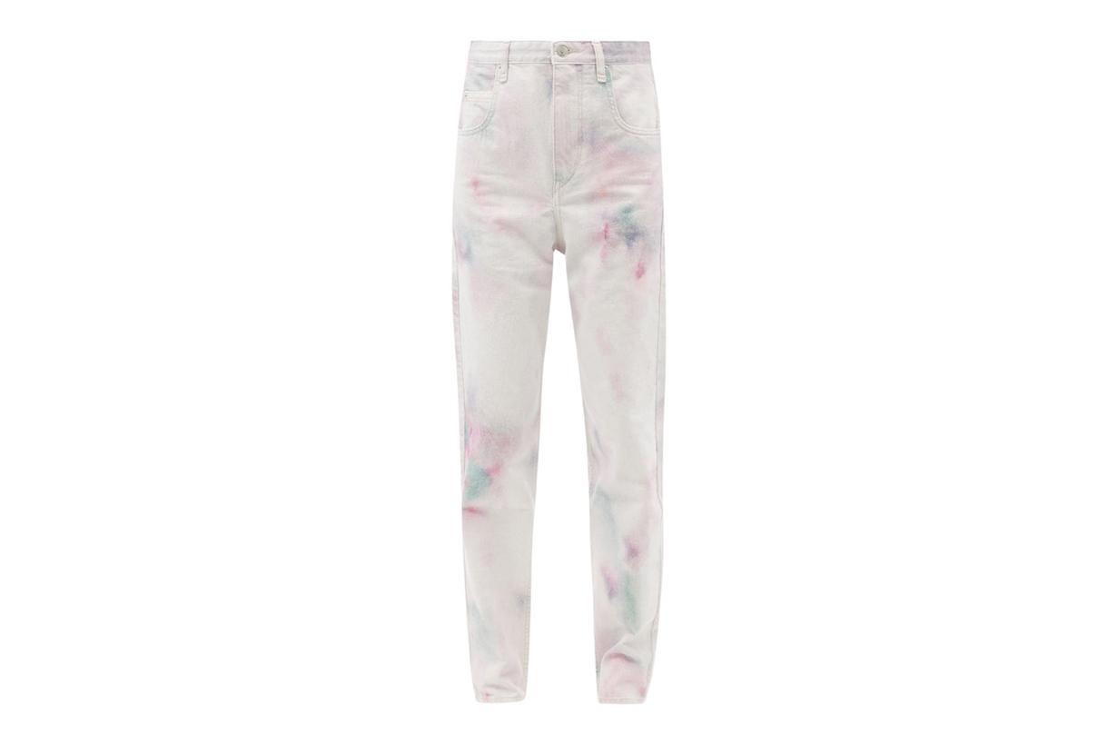 denim trouser pants trend tie dye 2021ss