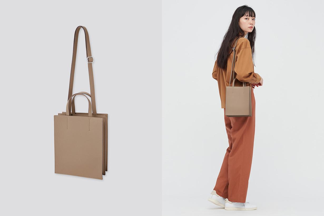 uniqlo Leather touch saddle shoulder bag handbags 2021