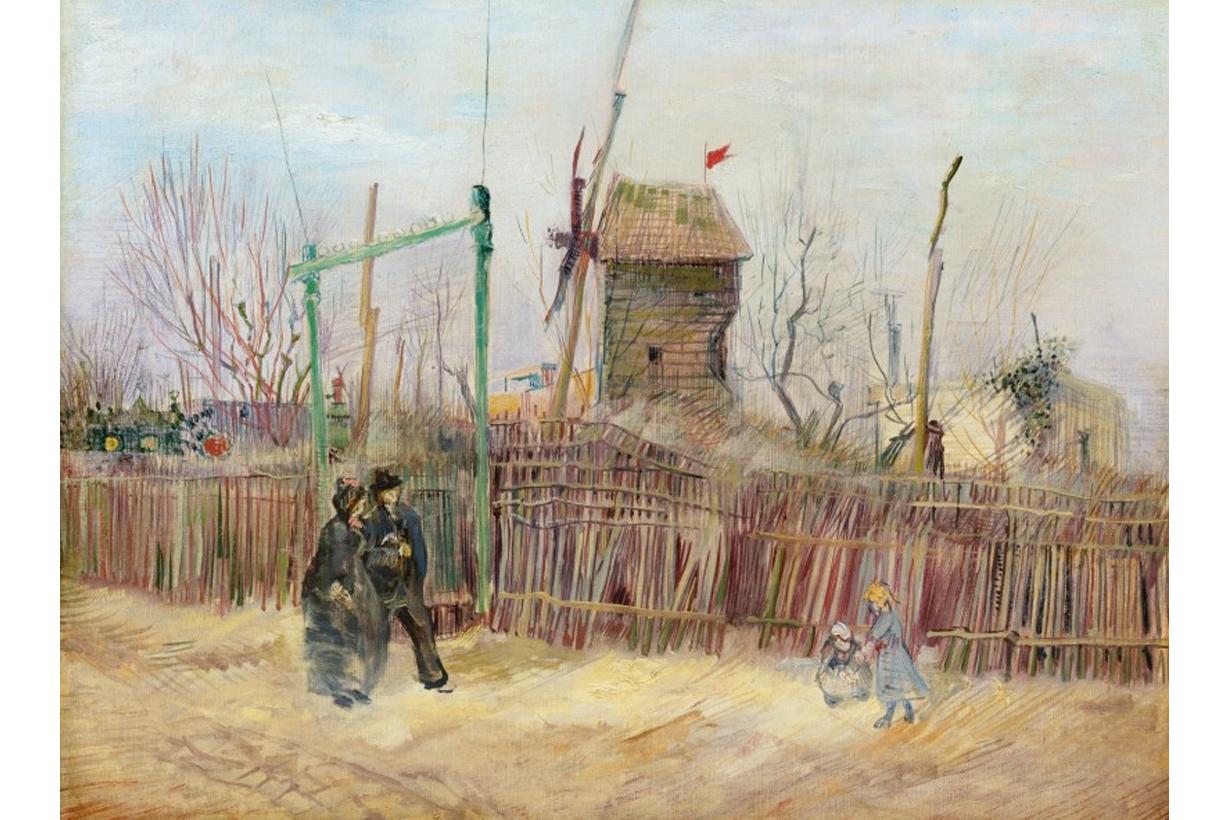 Vincent Van Gogh sotheby's Scène de rue à Montmartre 2021 sold