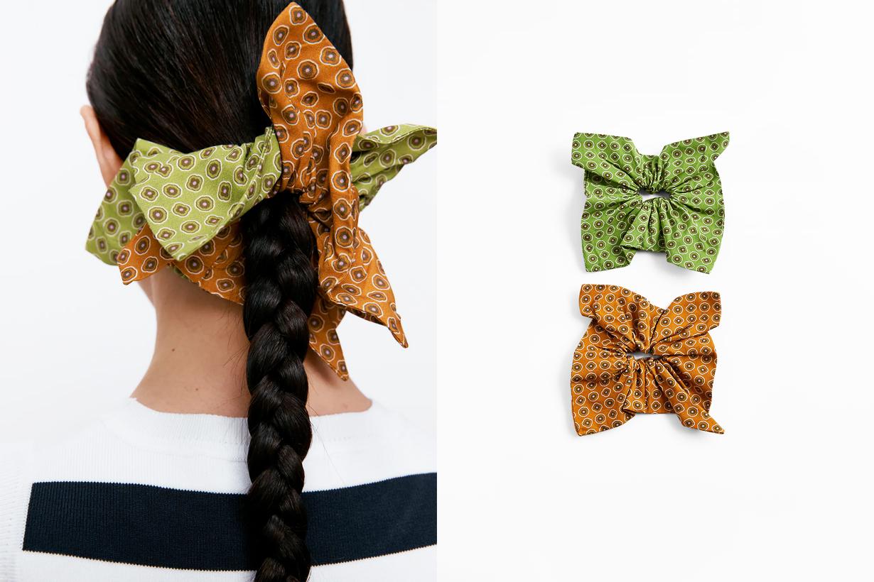 Scrunchie Zara Square Scrunchie  Hair Accessories Hairstyles Hair styling tips Hairstyles trends 2021 Spring Summer