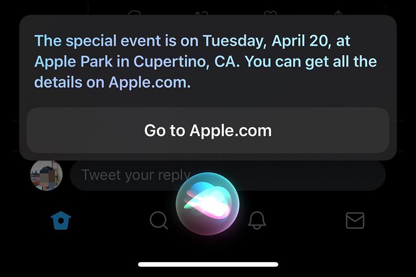 Siri Reveals Apple Event on April 20 California Apple Park