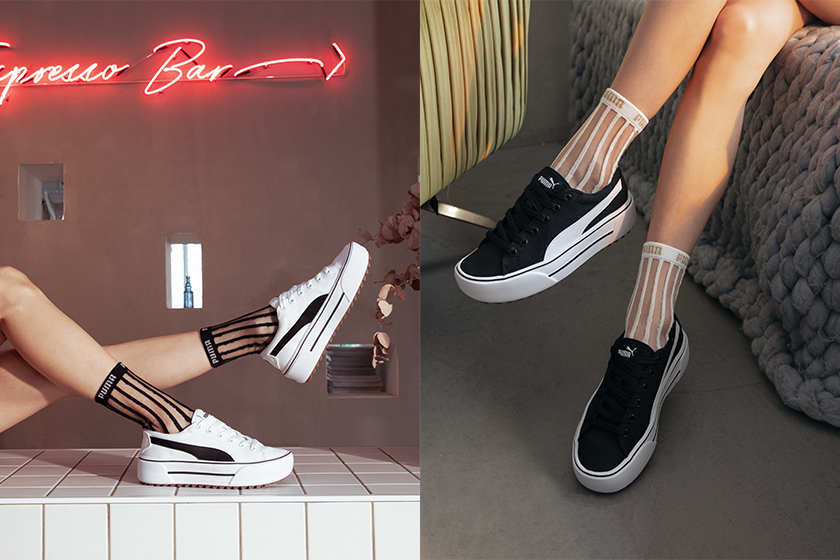 PUMA KAIA Platform White Black Sneaker