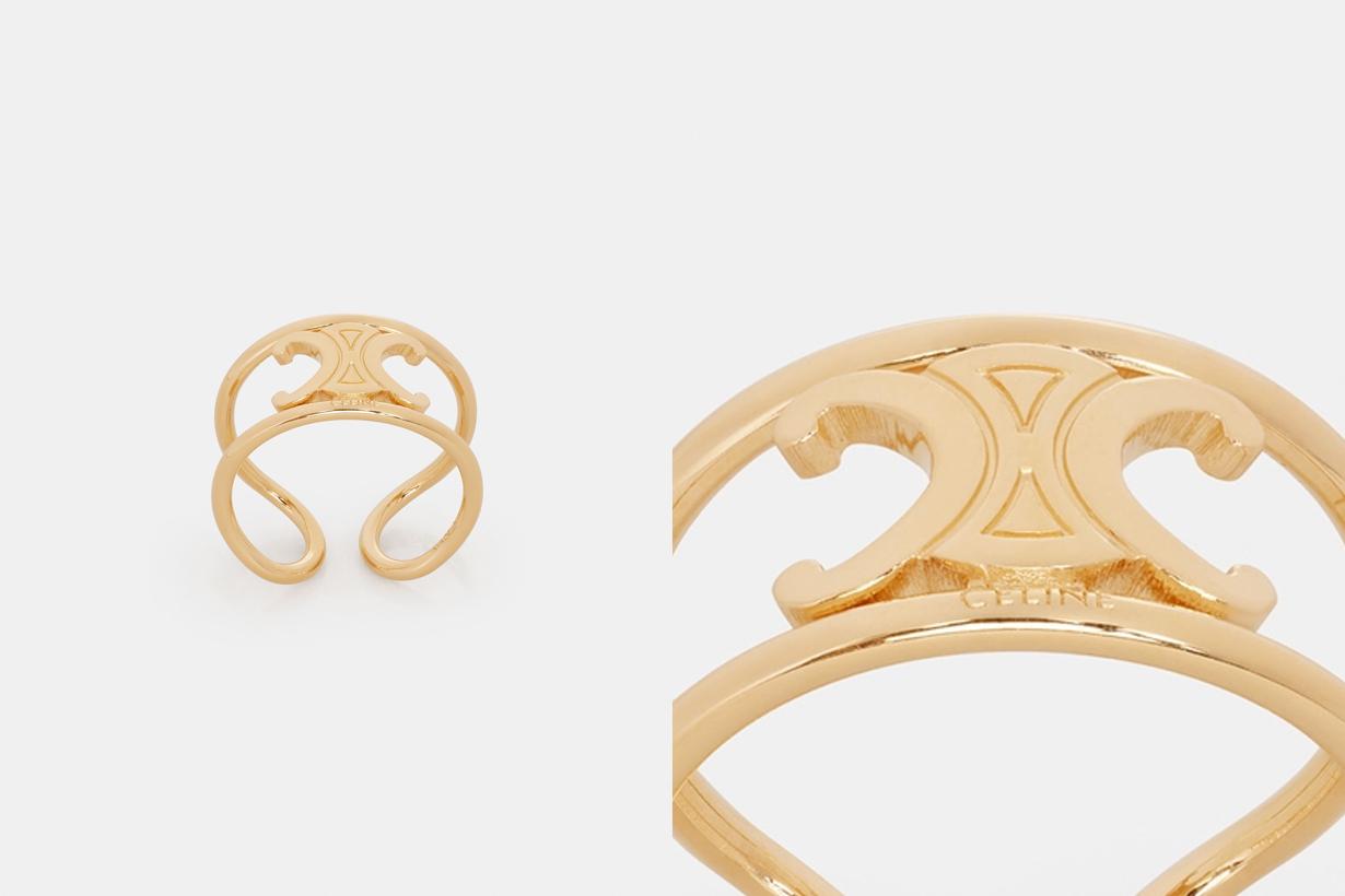 celine Maillon Triomphe Ring gold classic design