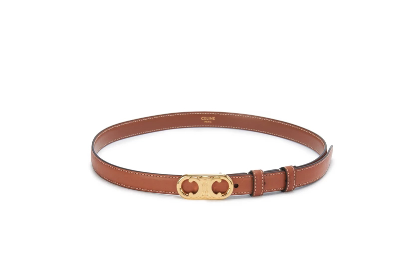 Small Maillon Triomphe Belt in Smooth Calfskin