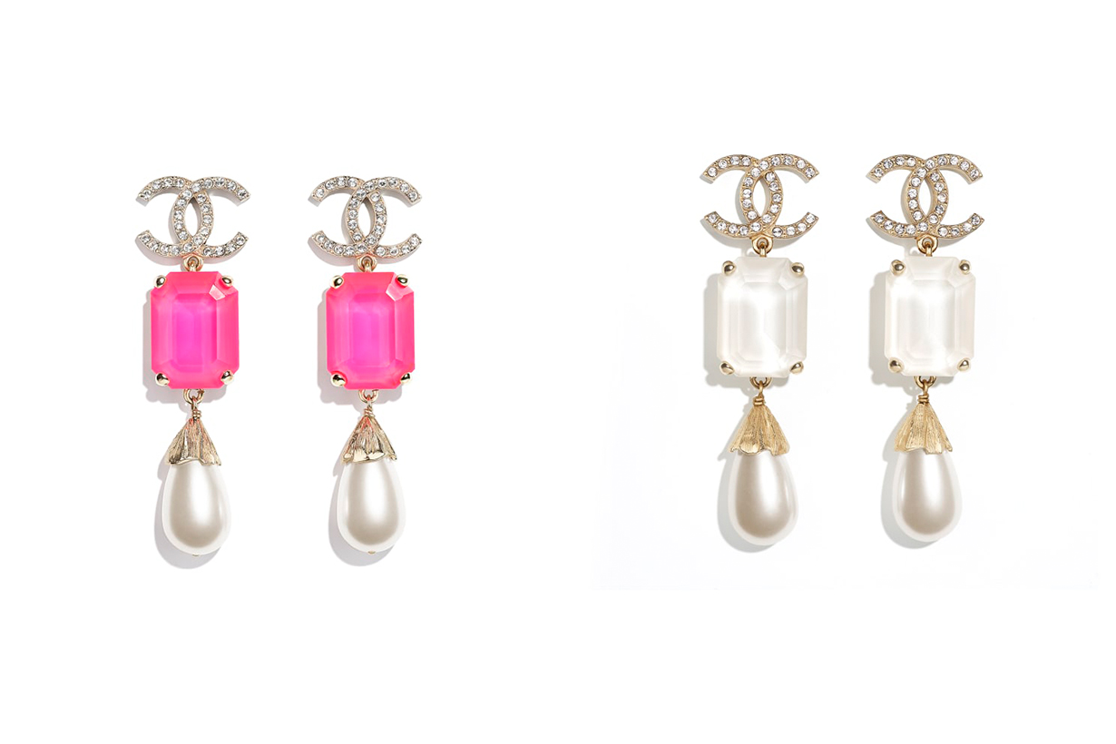 Chanel 2021 Spring Summer Fashion Trends Shocking Pink Earrings accessories Fashion Jewelry Virginie Viard