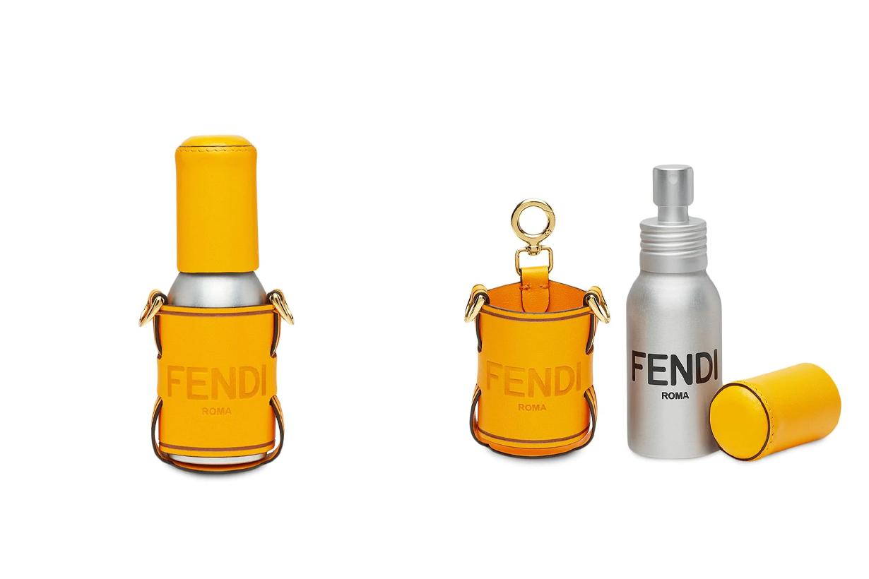 Fendi logo-print hand sanitizer holder Covid-19 pandemic hygiene products