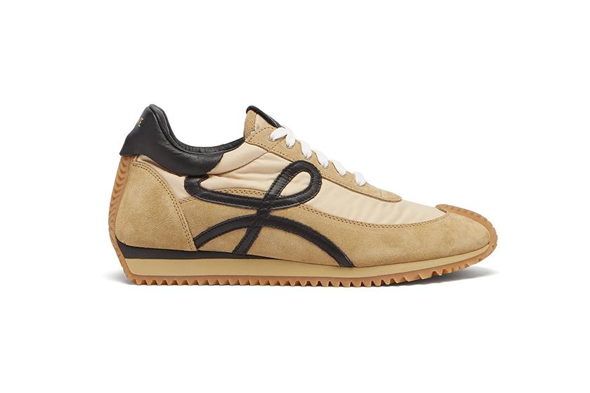 Beige Flow Runner Sneakers