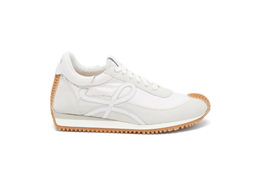Flow Runner shell and suede trainers
