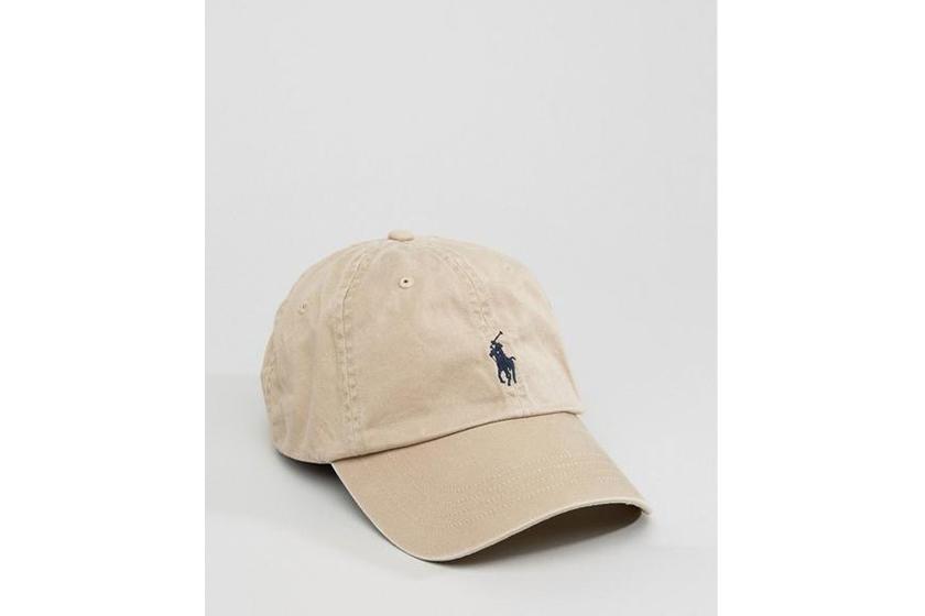 Polo Ralph Lauren logo baseball cap in beige