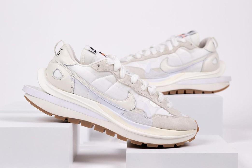 sacai x Nike Vaporwaffle Sail Sneakers