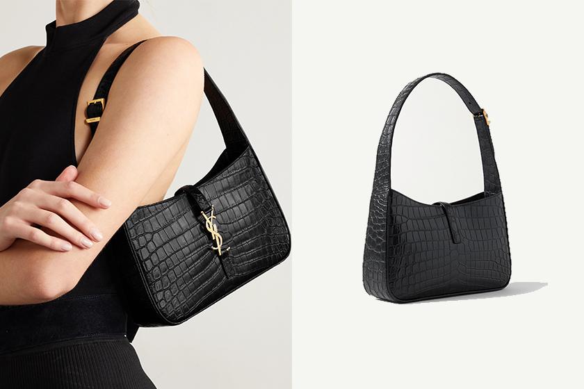 ROSE Saint Laurent Leather shoulder bag