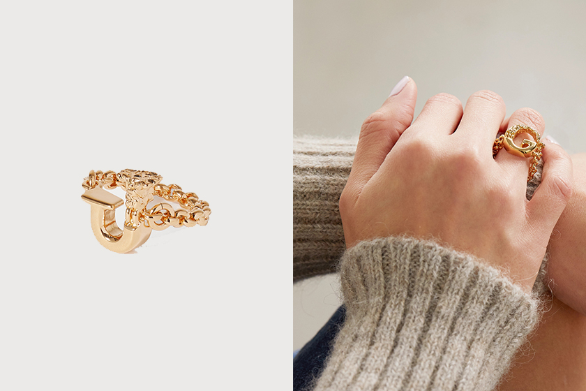 2021 summer Alphabet necklace ring Net-a-Porter