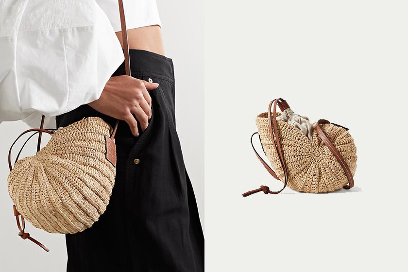 Loewe Paulas Ibiza Tulip Shell shoulder bag 2021 summer