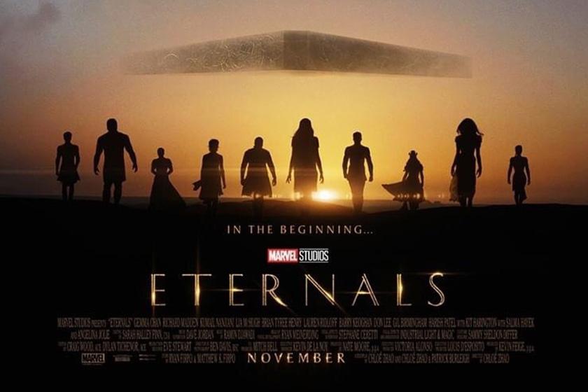 Marvel 2021 Eternals Movie trailer Angelina Jolie