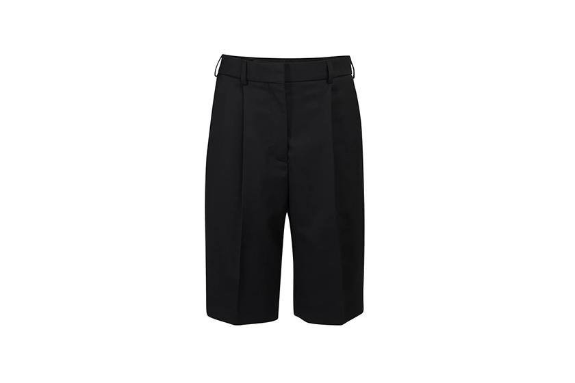 High waist Bermuda shorts