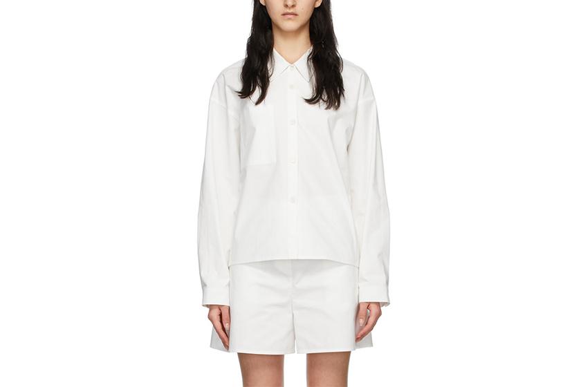 White Reverse Pocket Shirt