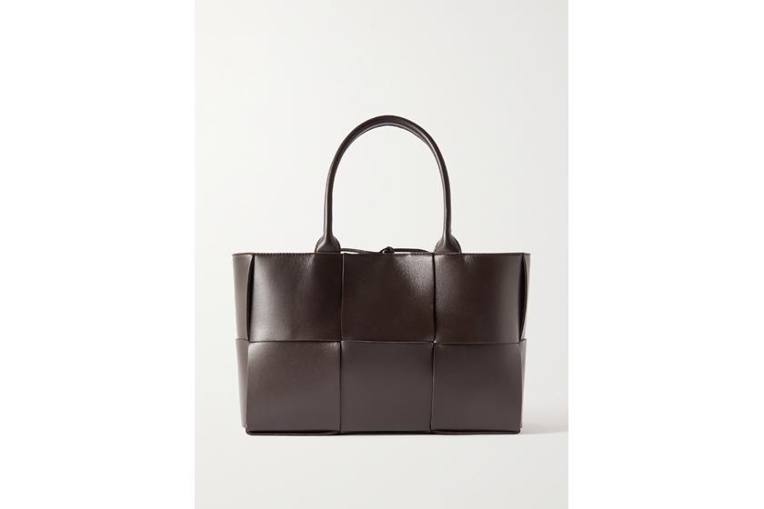 Arco small intrecciato leather tote