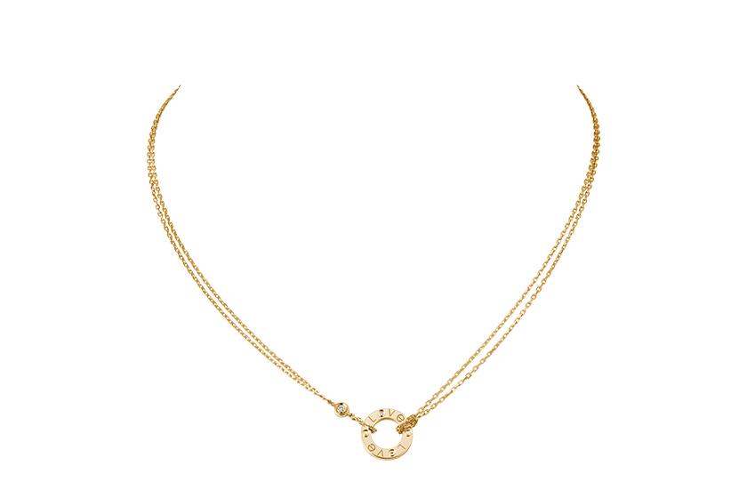 LOVE 項鏈,2顆鑽石