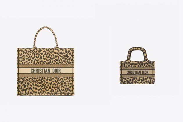 dior leopard handbag 2021 fall book tote lady d-lite saddle