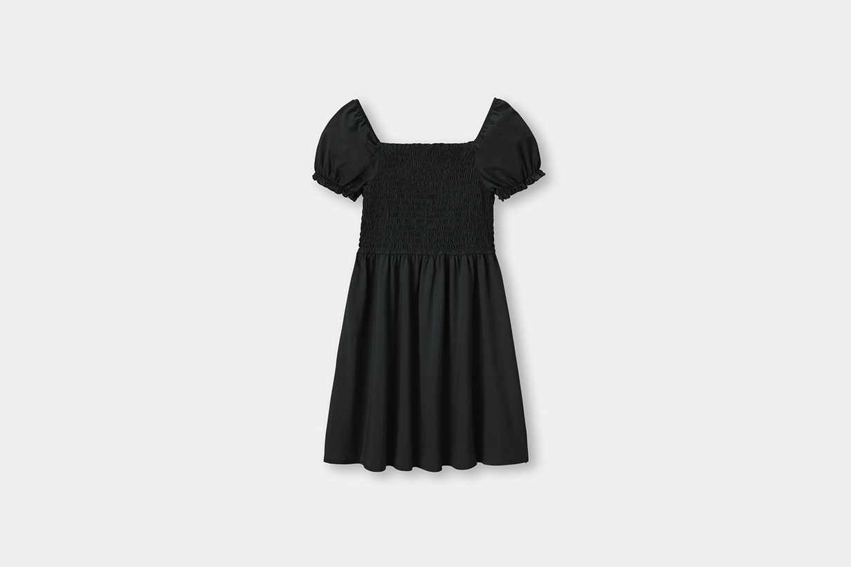 GU  Square neck dress little black dress 2021 spring summer fashion trends fashion items mini dress