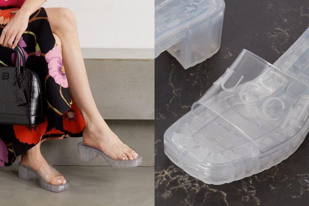 gucci plastique mule heel slide sandal 2021 ss transparent