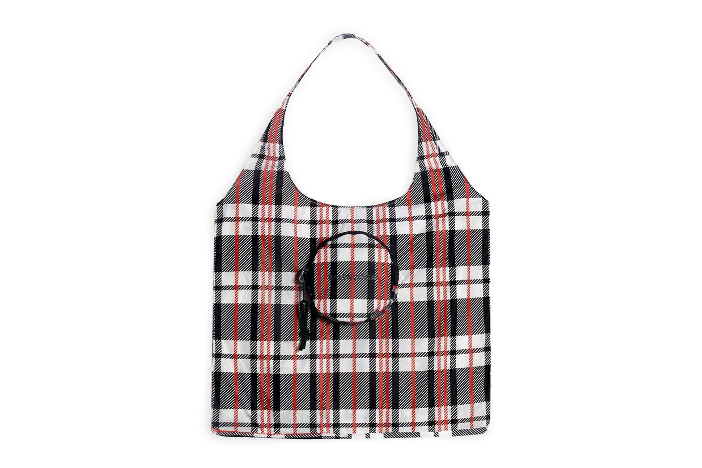 balenciaga grocery shopper bags logo reusable collapsible release