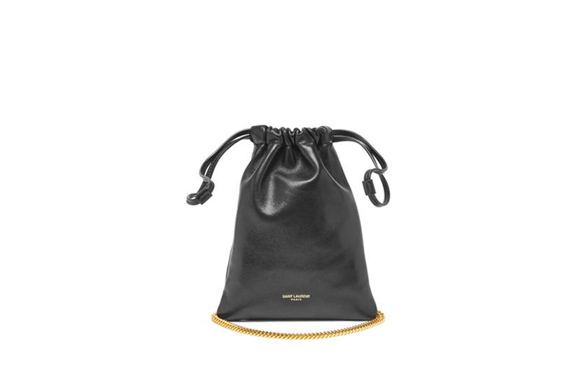 Logo-print mini leather cross-body bag