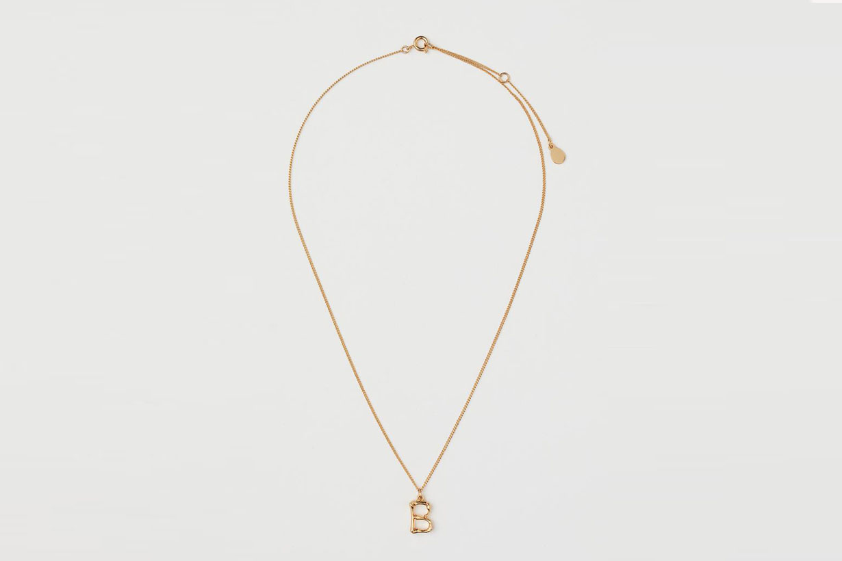 H&M Gold-plated pendant necklace accessories 2021