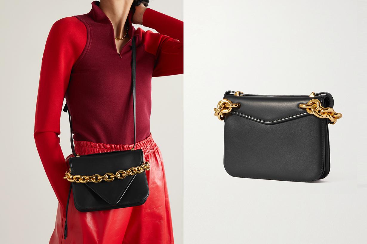 Bottega veneta Mount small leather shoulder bag handbags