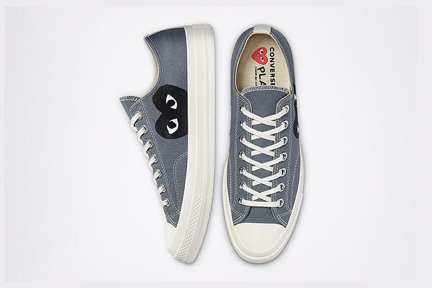 COMME des GARÇONS PLAY x Converse Chuck 70 Blue Quartz Steel Grey