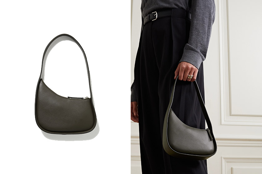 The Row Slouchy Banana leather shoulder bag