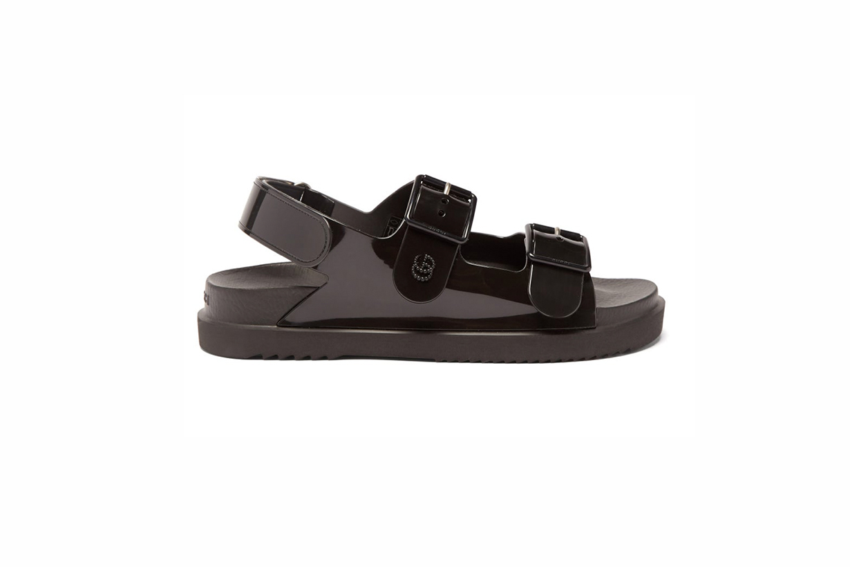 Gucci GG perforated-leather sandals 2021ss vintage dad shoes
