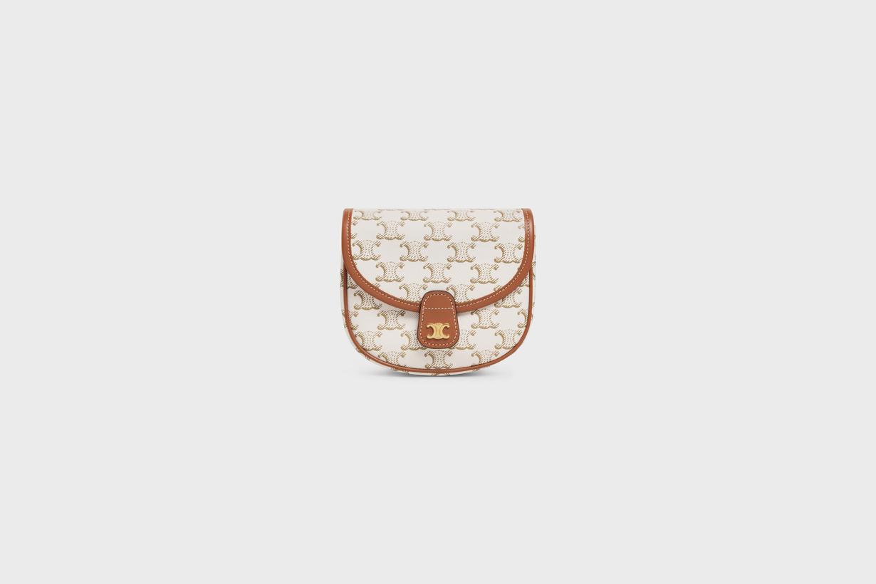 celine has a new mini triomphe canvas bag handbags 2021ss