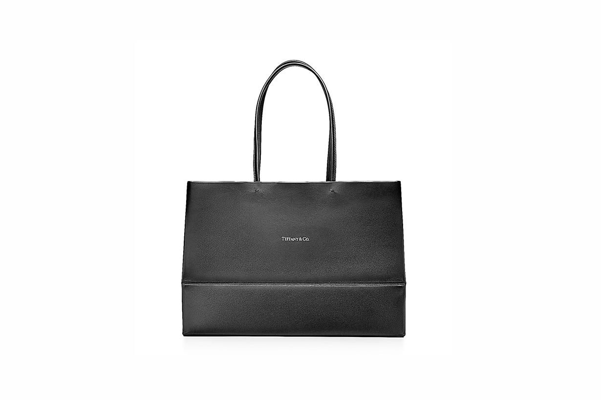 Tiffany & Co. all-black shopping bag 2021ss handbags