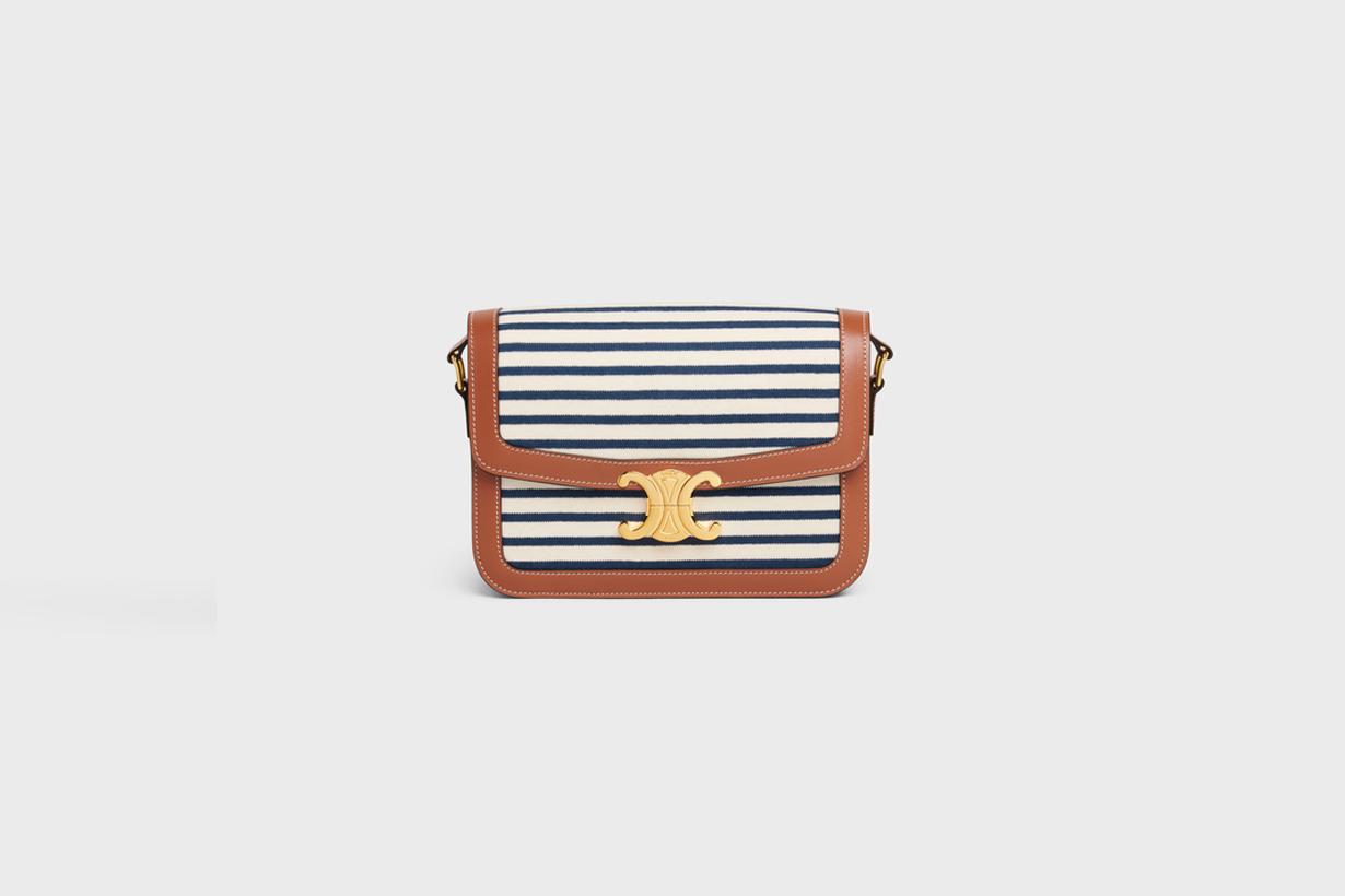celine stripes for summer triomphe bag patapans cabas handbags 2021ss