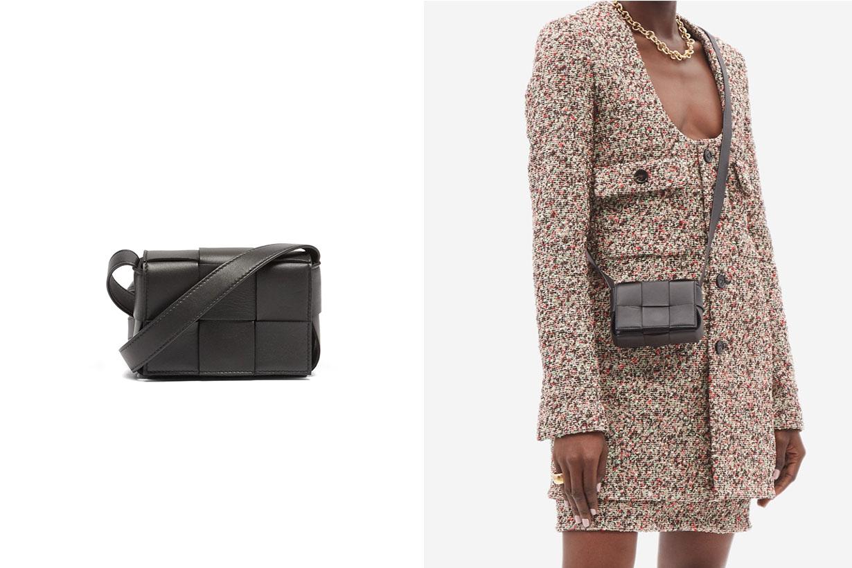 Bottega Veneta Cassette mini Intrecciato leather crossbody bag handbags 2021