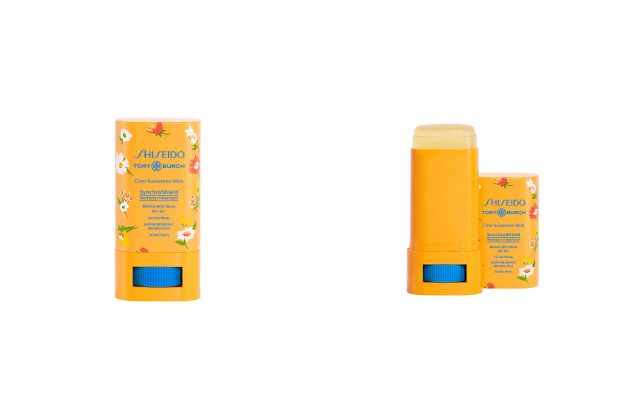 tory burch shiseido sunscreens new collab flower collection 2021