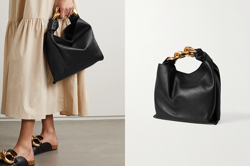 JW Anderson small Chain tote Bag Black White