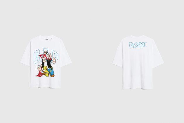 gap popeye t-shirt 2021 collab taiwan