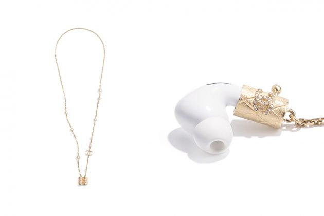 chanel airpods necklace pearl gold 2021