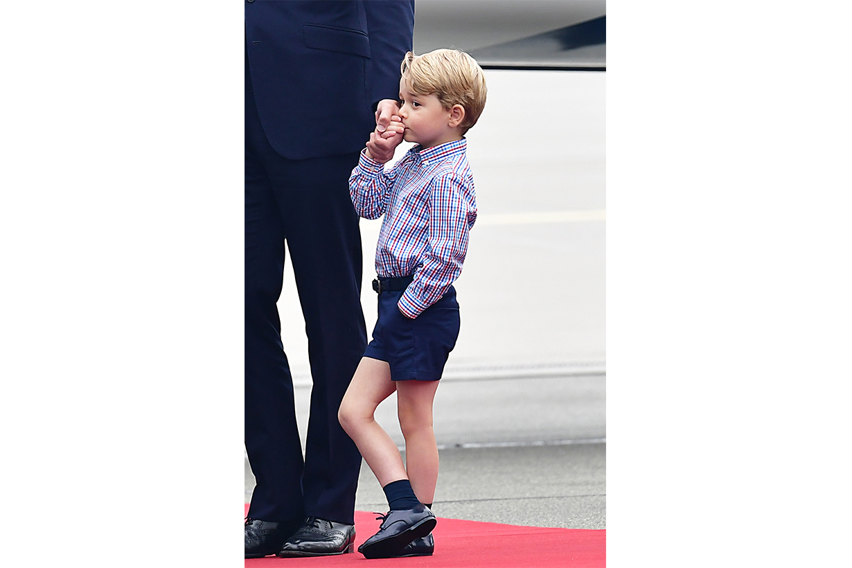 Prince George Prince William Kate Middleton Princess Charlotte Prince Louis British Royal Family Warsaw's Chopin Airport