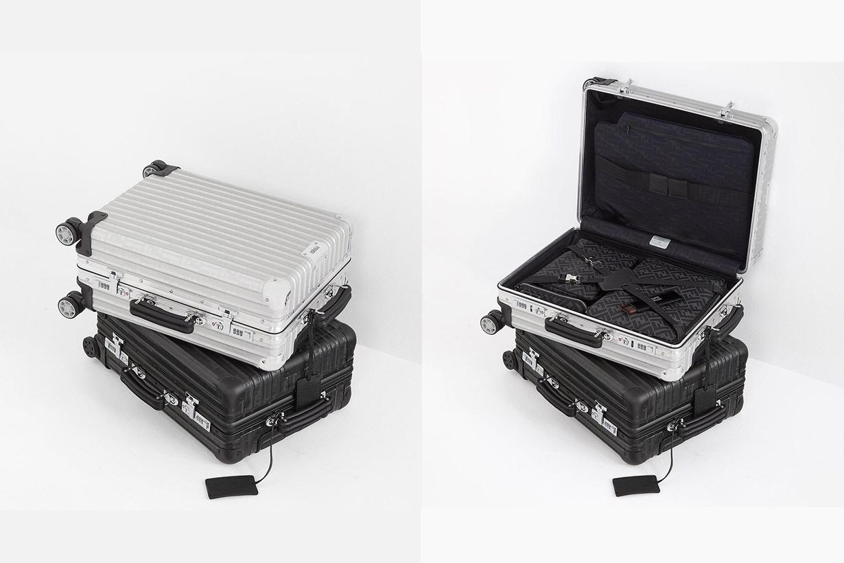Fendi x Rimowa collaboration classic cabin suitcase luggage