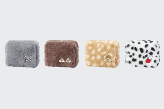 uniqlo disney furry friends collab pouch bambi chip dale 101 Thumper